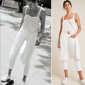 Pilcro White High-Rise Cropped Denim Leggings